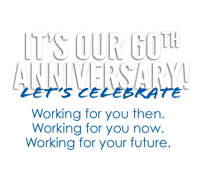 It's Our 60th Anniversary - Help us celebrate!